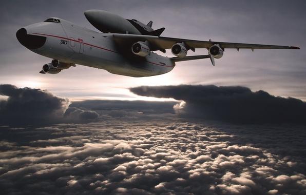 Picture The sky, Clouds, The plane, USSR, Buran, Mriya, Antonov 225, Antonov, In The Air, Antonov, …