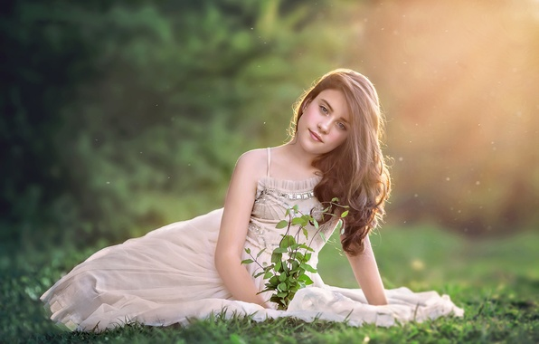 Picture look, mood, hair, dress, girl, bokeh