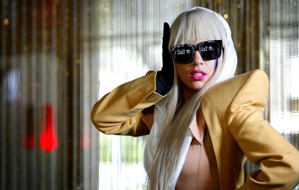 Picture glasses, singer, Lady Gaga, suit