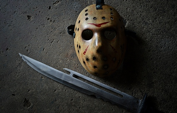Picture mask, Jason, Friday the 13th, knife, Jason