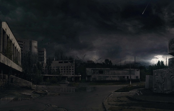 Picture night, destruction, 157, Chernobyl