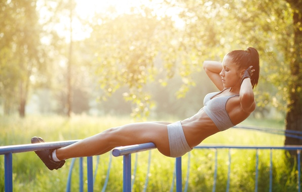Picture workout, fitness, abs, sportswear, physical activity outdoors
