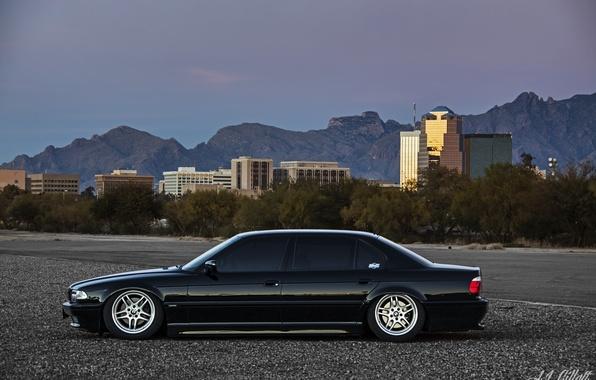 Picture bmw, BMW, black, Boomer, e38, 750il, bimmer