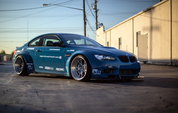 Picture BMW, BMW, blue, racing, race, E92