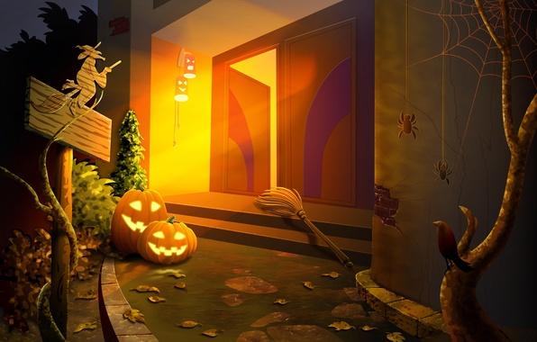 Picture pumpkin, Halloween, halloween, horror