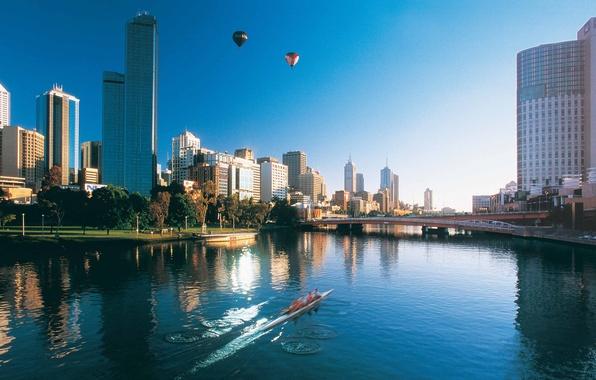 Photo Wallpaper Capital Australia Melbourne In The Morning City