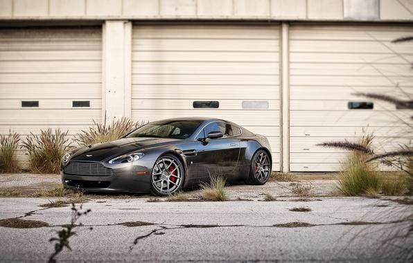 Picture black, Aston Martin, Vantage, Aston Martin, black, the front part