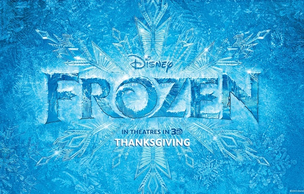 Picture winter, patterns, cartoon, ice, Frozen, Disney, poster, snowflake, Cold heart