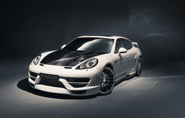 Picture white, background, tuning, Porsche, Panamera, Hamann, tuning, the front, Porsche.Panamera, Cyrano