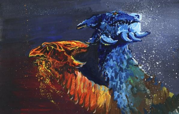 Wallpaper Dragon Figure Art Dota 2 Jakiro 2 Heads Twin Head Dragon Eksfo Images For Desktop Section Igry Download