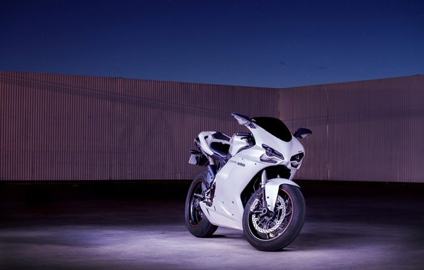 Picture white, the sky, motorcycle, white, Supersport, bike, ducati, Ducati, supersport, 1198
