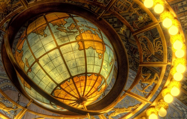Picture light, light bulb, Globe, the signs of the zodiac