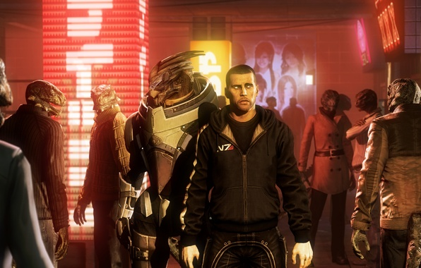 Picture mass effect, Shepard, Spectre, Garrus Vakarian, Garrus Vakarian, turanec, Archangel, turian, Turian Agent, N7 Alliance …