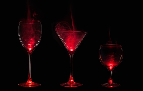 Picture light, the darkness, paint, smoke, glass, gas, glass