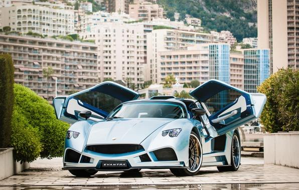 Picture car, auto, supercar, Monte Carlo, Mazzanti Evantra