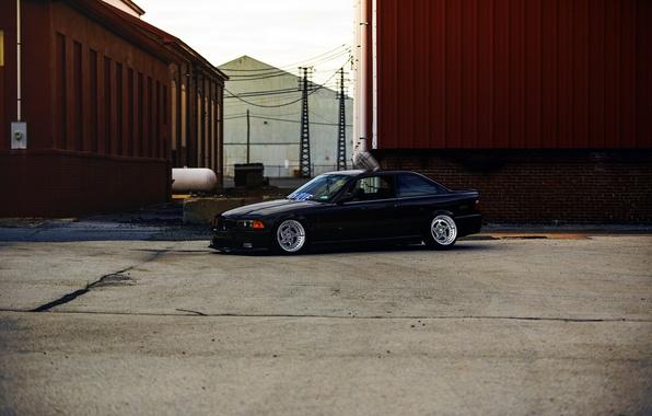 Picture BMW, wheels, black, stance, E36