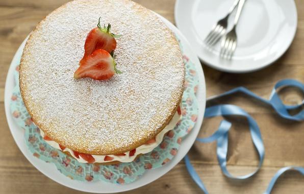 Picture berries, food, strawberry, cake, cake, cake, cream, dessert, food, sweet, dessert, berries, cheesecake, ribbon, strawberries, …