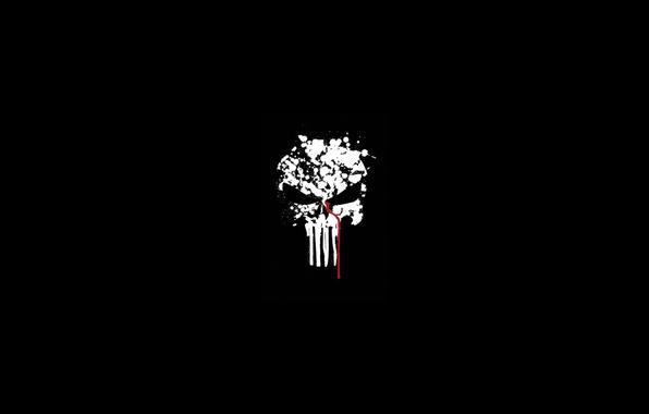 Picture blood, skull, sake, blood, the punisher, fon