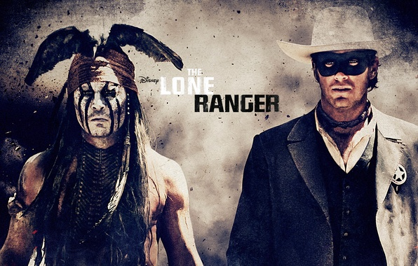 Picture Johnny Depp, Western, The Lone Ranger, The lone Ranger, Armie Hammer