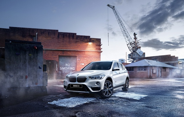 Picture BMW, crane, BMW, crossover, F48