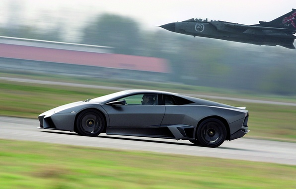 Photo wallpaper reventon, lamborghini, tornado, flight
