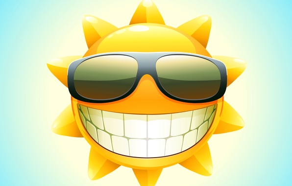 Picture summer, the sun, smile, vector, teeth, glasses