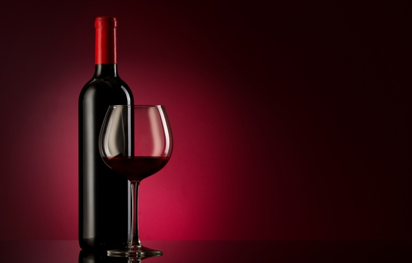 Picture glass, background, wine, red, glass, bottle, alcohol, Burgundy