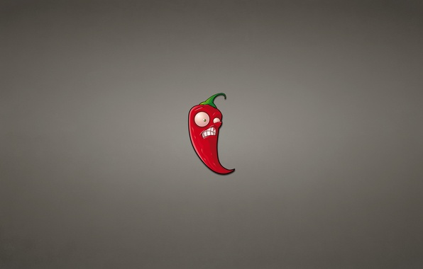 Picture red, minimalism, pepper, Chile, pepper, dark background, plants vs zombies