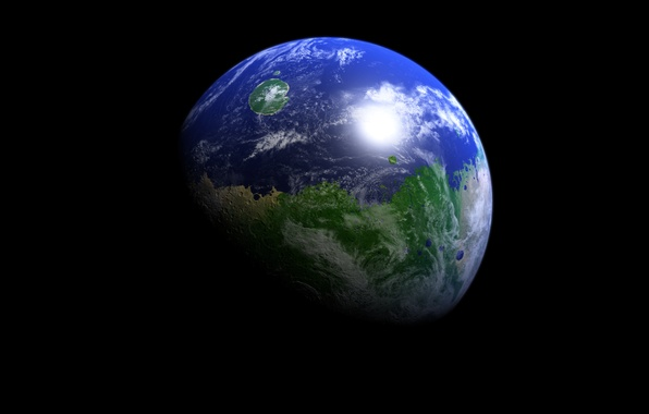 Picture surface, planet, Earth, continents, oceans