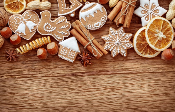 Picture holiday, New Year, cookies, Christmas, Christmas, New Year