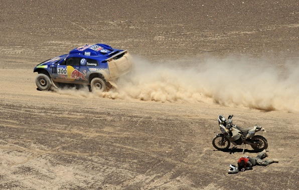 Picture auto, photo, Wallpaper, race, sport, desert, volkswagen, cars, motorcycle, motorcyclist, cars, auto, wallpapers, Volkswagen, Dakar, ...
