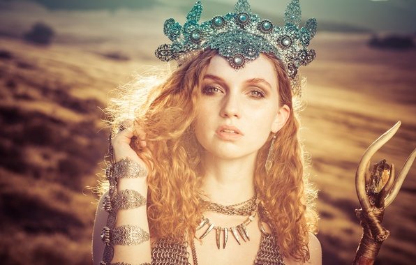 Picture look, girl, decoration, style, mood, hair, crown, red, redhead, Alexandria Basso