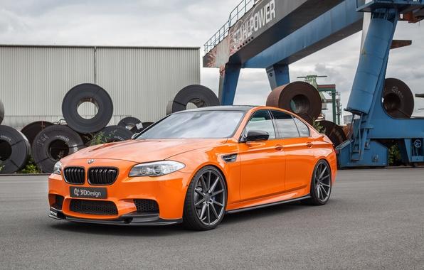 Picture car, auto, BMW, BMW, tuning, the front, orange, 3D Design