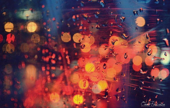 Picture color, drops, lights, glow, window