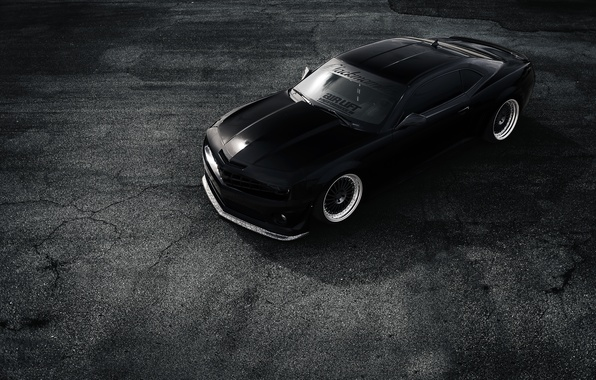 Picture Chevrolet, Muscle, Camaro, Car, Front, Black, Matte, Stance, ZL1, Top