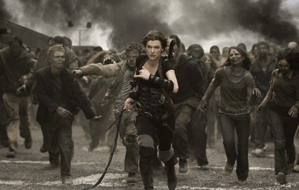 Picture zombies, resident evil, Milla Jovovich, resident evil
