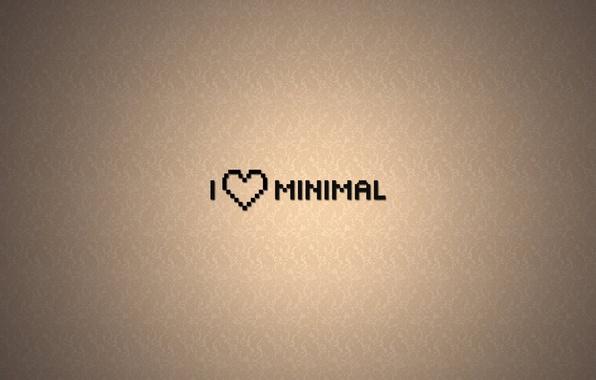 Picture Minimalism, Love, Wallpaper, Heart