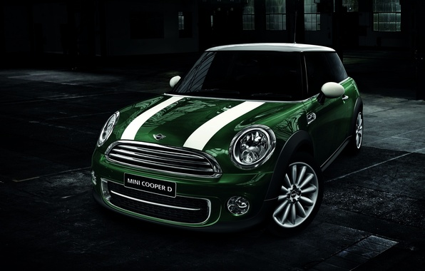 Picture Strip, Green, Machine, Mini Cooper, Car, Mini Cooper