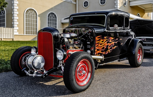 Picture retro, Ford, classic, 1932 Ford 5-Window Coupe
