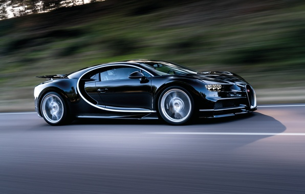 Picture movement, speed, track, Bugatti, 2016, Chiron
