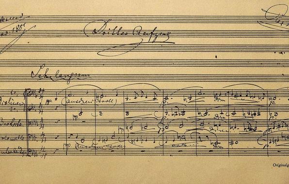 Photo wallpaper Richard Wagner, score, Bayreuth, Opera Parsifal, Germany, Museum, notes, Bayern