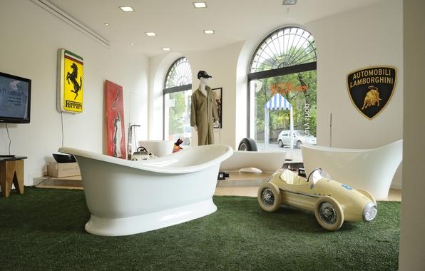 Picture design, interior, bath, the room