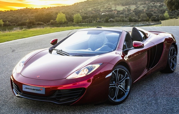 Picture McLaren, Red, Machine, McLaren, Red, Car, 2012, Car, Beautiful, Spyder, New, MP4-12C, Wallpapers, New, Beautiful, …