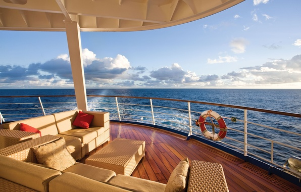 Picture sea, landscape, stay, view, yacht, horizon, relax, Suite