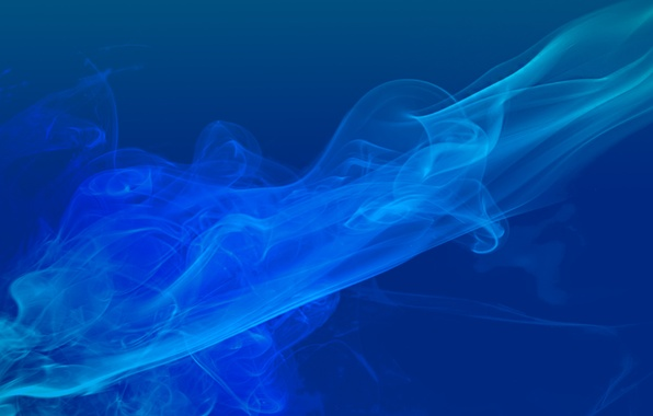 Picture blue, color, smoke, color abstract