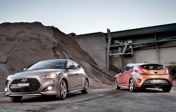 Picture car, Hyundai, wallpapers, two, Turbo, mixed, Veloster