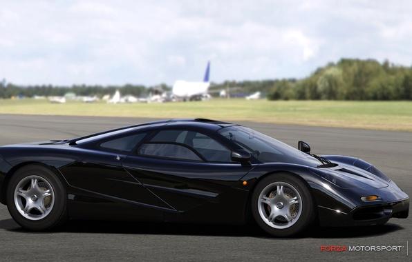 Picture black, McLaren, track, gtr, motorsport 4, forza