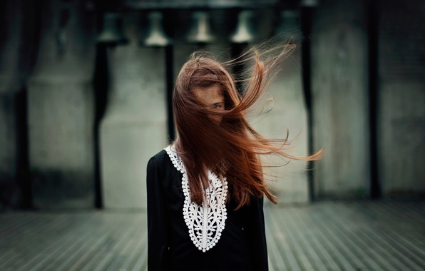 Picture the wind, hair, portrait, girl
