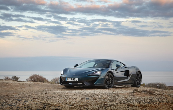 Picture car, auto, the sky, McLaren, wallpaper, supercar, beautiful, the front, 570GT