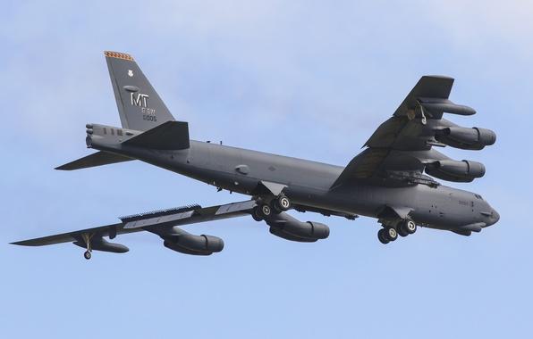 Photo wallpaper strategic, B-52H, bomber, heavy, STRATO fortress, Boeing